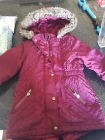 girls age 3-4 and 4-5 inc winter coat antrim