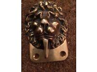 Antique?Vintage solid brass lion door knocker
