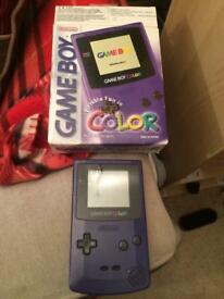 Boxed purple Gameboy color