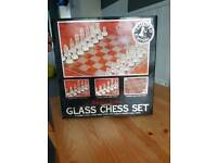 Limited edition glass chess set