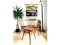 Ercol blonde Windsor 391 chairs ( set of four )
