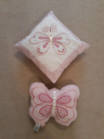 Butterfly Buttons cushions, by Next