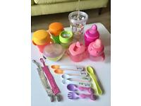 Various items including cups for baby and toddler! 0-18 months