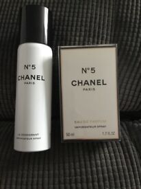 Chanel perfume and body spray