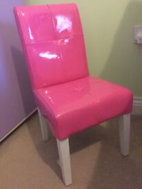 For sale, child's pink chair