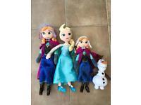 Disney Frozen Elsa, Anna and Olaf Plush Toys