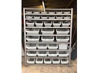 Storage rack and bins