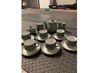 Denby Regency Green Tea Service