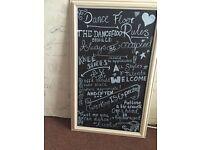 Wedding chalkboard dance floor rules