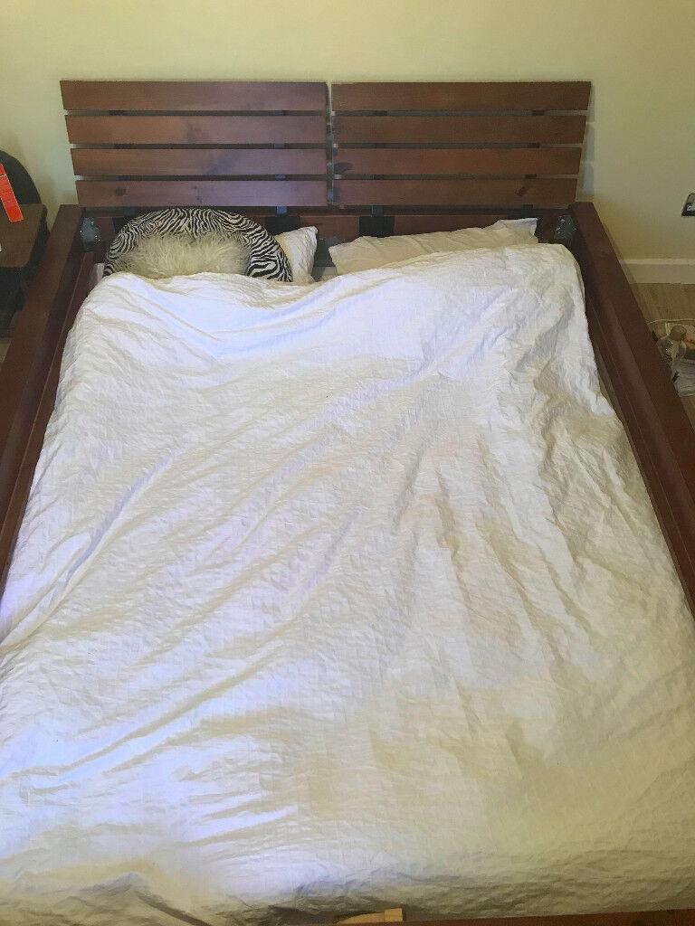 FREE! King size wooden bed frame (broken slat) | in Stroud ...