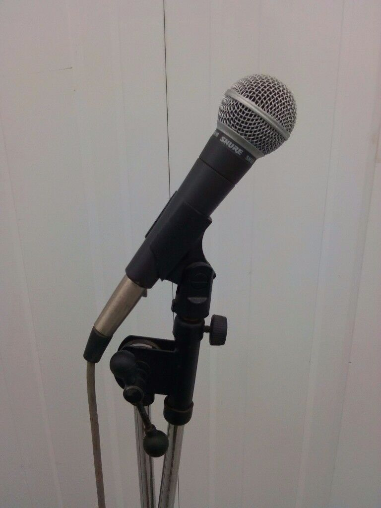 Shure Sm58 Microphone X2 Amp Stands Amp Leads In Long Eaton