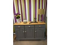 Shabby chic solid oak Old Charm sideboard