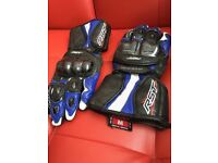 RST Delta II 2 Blue Motorcycle/motorbike Gloves - size M
