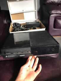 Xbox one with controller and Minecraft
