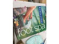 Remington aroma foot spa - Boxed with oils & Instructions