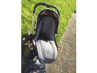 used i candy peach pushchair Pram (brown colour) with extras