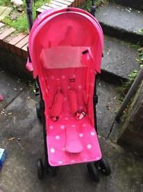 Pink zeta stroller pram