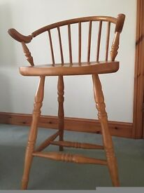 Breakfast Bar chairs (4). solid wood in good condition, one still new and boxed.