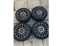 """Wolfrace Pro Sprint 15"""" Alloy wheels and Tyres"""