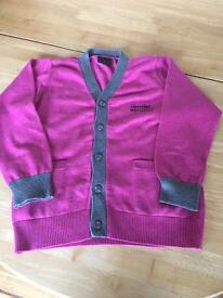 Boys next size 5 year cardigan.