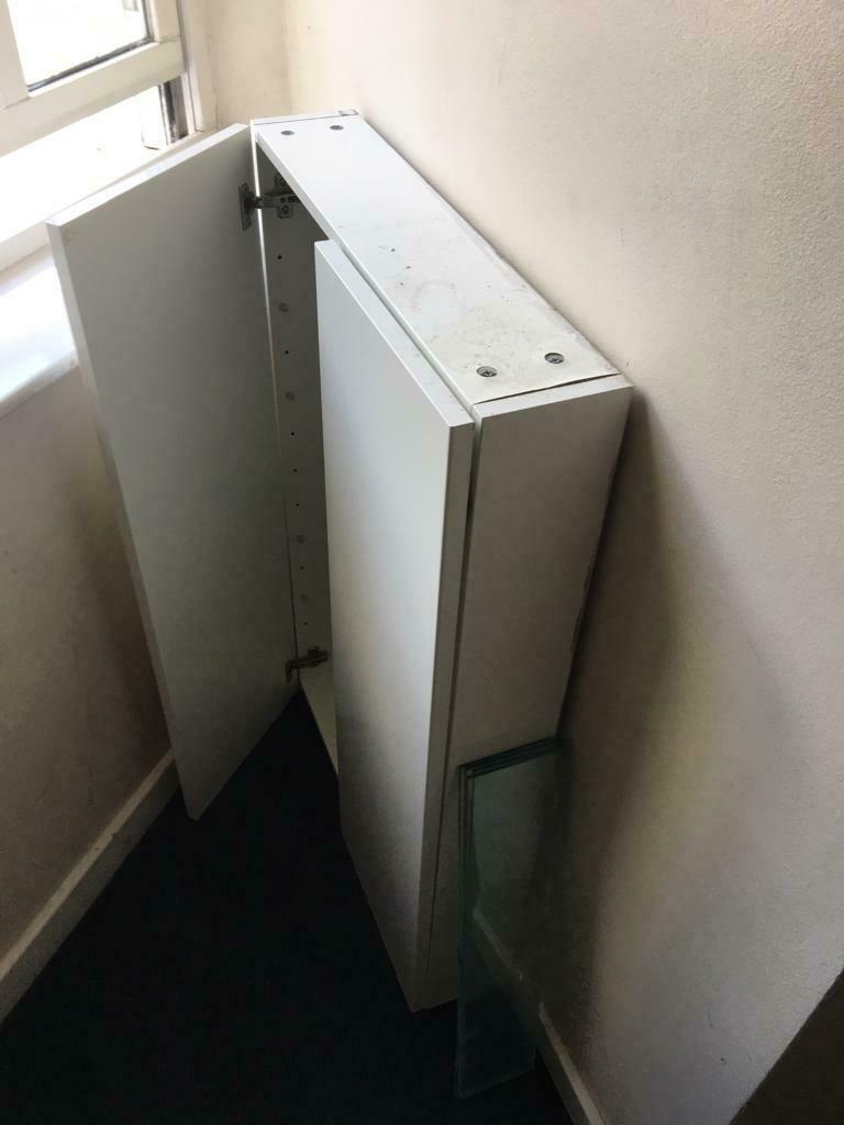 Slim Bathroom Wall Cabinet With Gl