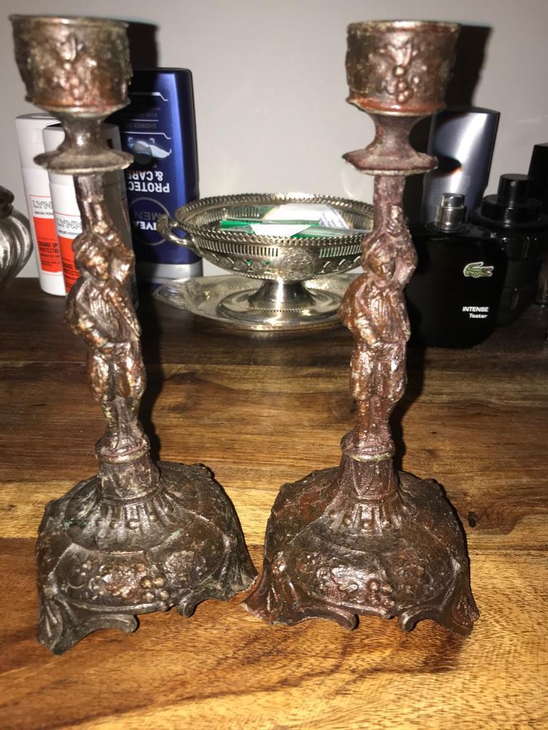 Antique candle sticks