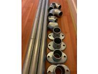 Galvanised tube & clamps