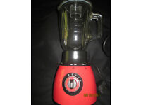 Argos Colour Match glass jug 1.7 ltr blender in red.