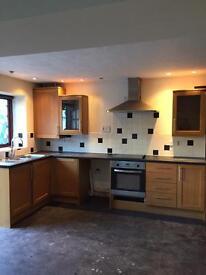 Howdens solid light oak complete kitchen