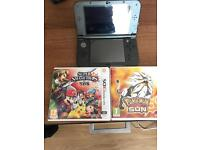 New Nintendo 3DS XL with Super Smash Bros and Pokemon Sun