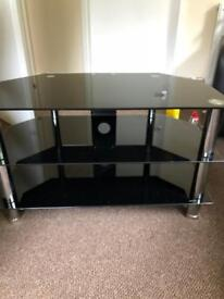 Black glass TV Unit and Table