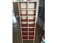 Sturdy Ikea red CD storage unit 128 x 40 x 20 cm