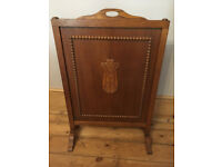 Vintage Wooden fire screen