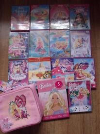 Barbie DVD Bundle (x16), Book and New Lunch Bag