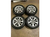 "Set of 16"" genuine Vw alloy wheels and tyres"