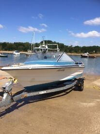 Draco 18 Speed Boat on Trailer