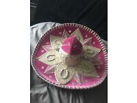 Pink/ silver authentic mariachi- Mexican sombrero