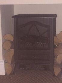 Electric log burner.