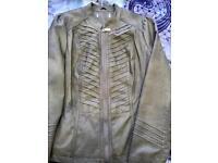 Stone faux leather jacket