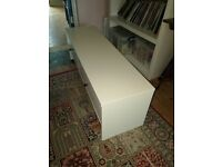 White storage unit with drawers