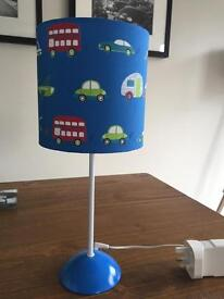 Boys blue table lamp