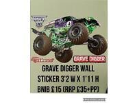 Grave digger monster truck wall sticker