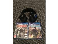 PlayStation 4 games head set