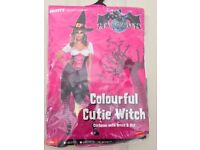 COLOURFUL CUTIE WITCH FANCY DRESS OUTFIT SIZE 12/14 BY SMIFFYS GREAT FOR HALLOWEEN