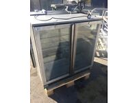 Double Door Undercounter Bar Fridge Bottle / Drinks Chiller