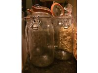 2l JAR for jam or decoration(french glass)