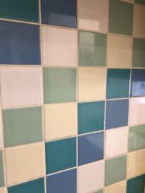 Homebase ceramic tiles 9.5cm x 9.5 cm