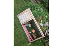 Small hutch. Inside. Outside. Nearly new. Our tortoise has a new home