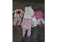 3-6 month girls nightwear bundle