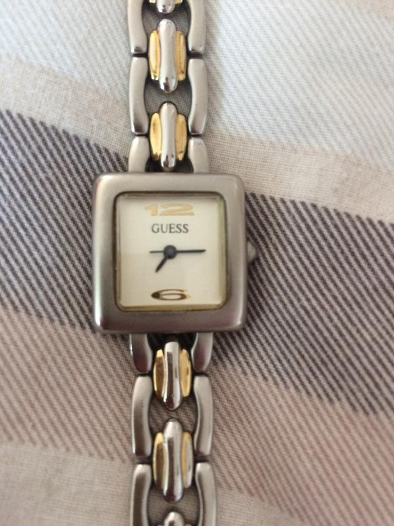 Guess ladies two tone watch